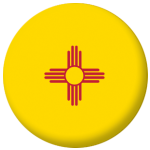 New Mexico State Flag 58mm Mirror Keyring